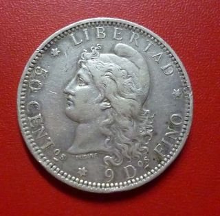Argentina Silver Coin 50 Centavos,  Km28 Vf 1883 photo