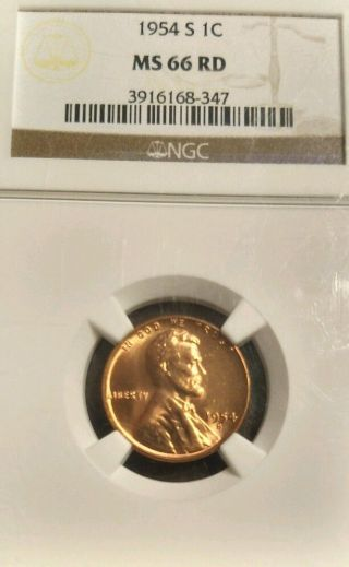 1954 - S 1c Ms 66 Rd Ngc Graded photo