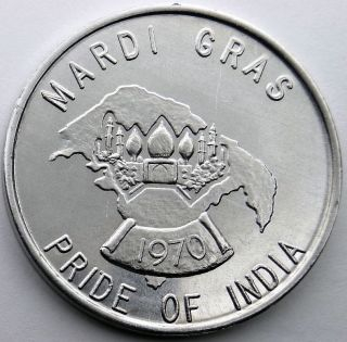 Pride Of India Token - 1970 Fun Timers Carnival Club Aluminum Doubloon photo