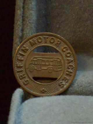 Griffin Motor Coaches Bus Line Vintage Transit Token Good For One Fare Old photo