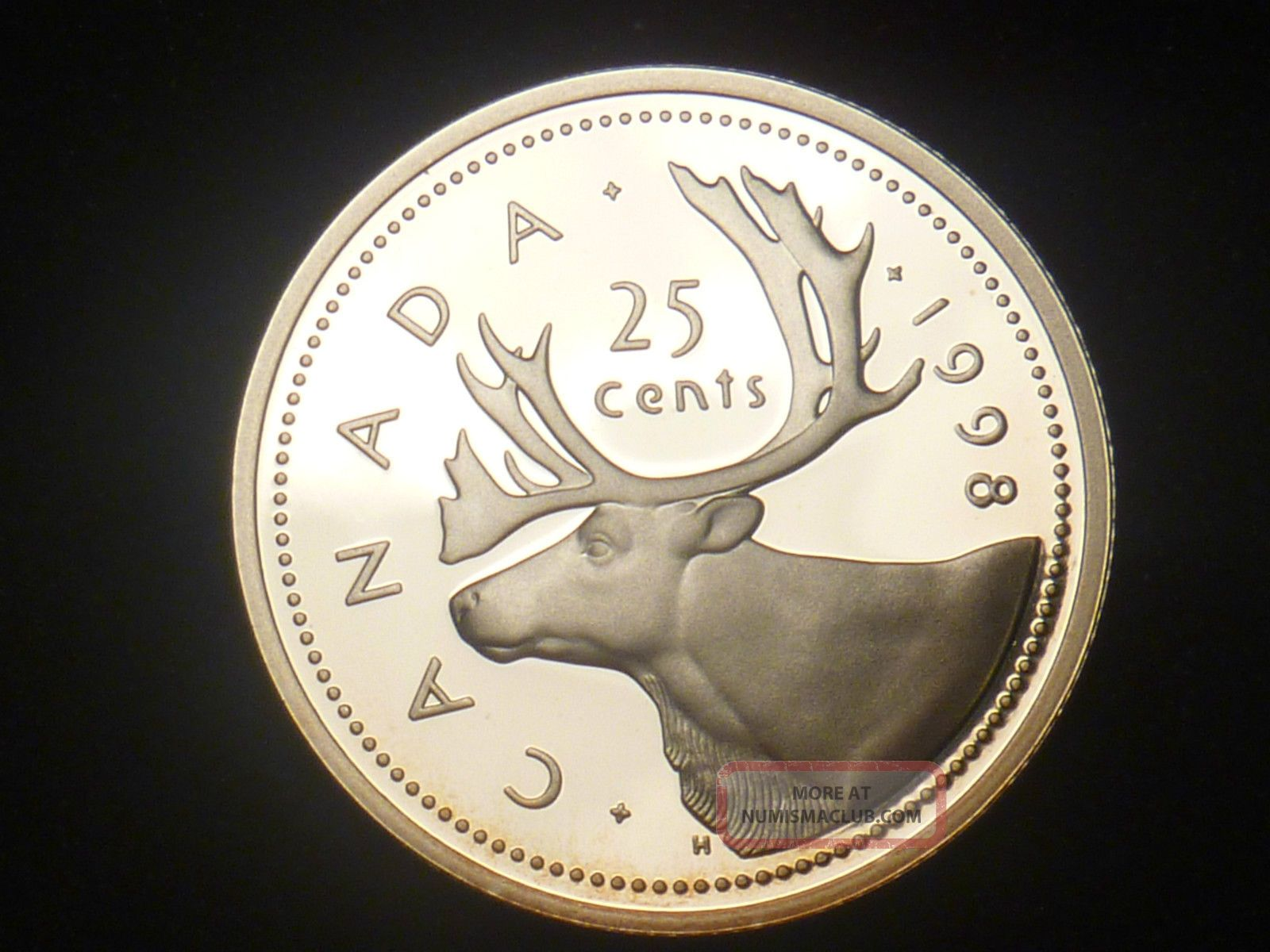 1998 Canada 25 Cents Proof Silver.  925 Rcm - Only 89 000 Minted Coins: Canada photo
