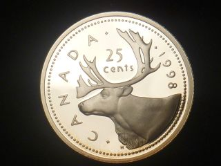 1998 Canada 25 Cents Proof Silver.  925 Rcm - Only 89 000 Minted photo