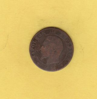 France 5 Centimes,  1854 - M Napoleon Iii photo