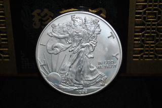 1996 1 Oz.  $1 Silver American Eagle W/ Airtite Case - Key Date - 1 Day photo