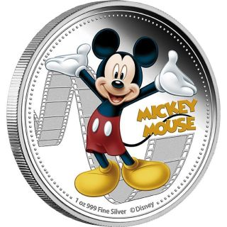Mickey Mouse 2014 - Disney Mickey & Friends 1oz Silver Proof Coin photo