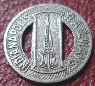 (1941) Indianapolis Railways (indiana) Transit Token In Ef - Au (in460t) photo