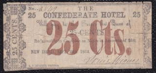 25 Cents The Confederate Hotel,  Iberia,  September 1862 photo