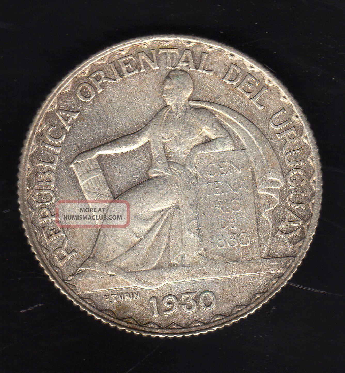 Uruguay 20 Centesimos 1930,  Silver Very South America photo