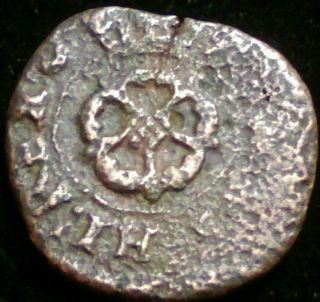Scarce Medieval 1625 Renaissance Rose Farthing 17th Century $high Grade Coin photo