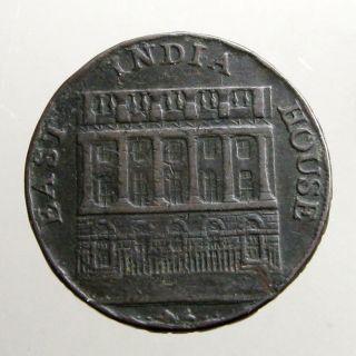 1793 Copper Halfpenny_conder Token_tea Exchange Bldg_griffins & Camel photo