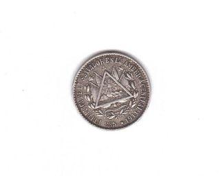 El Salvador 5 Centavos 1914 Silver Coin Central America photo