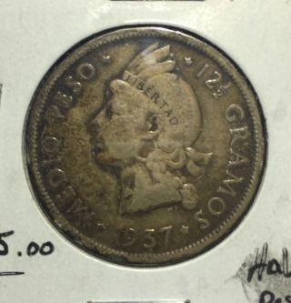 Dominican Republic 1/2 Peso Cl photo
