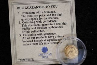 2000 Republic Of Liberia - Civil War 14k Gold $10 -.  5 Grams Proof Coin photo