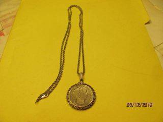 1911 Silver Half Dollar Neckless photo