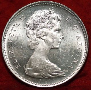 Uncirculated 1963 Canada Silver $1 Foreign Coin S/h photo