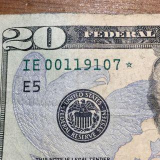 20$ Star Bank Note Twenty Dollar Bill In Series 2006 Rare. photo
