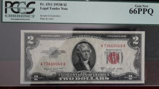 1963 $2 A73660048a / Red Seal Unc Pcgs 66ppq photo