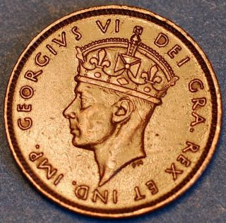 Canada.  Newfoundland.  1 Cent George Vi 1938.  Km 18 photo