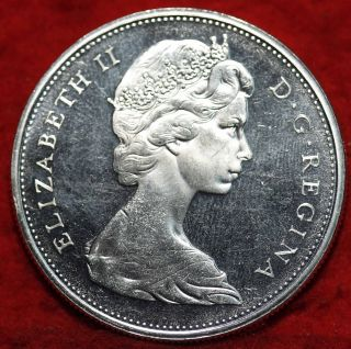 Uncirculated 1965 Canada Silver $1 Foreign Coin S/h photo