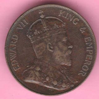 Hong Kong - 1904 - One Cent - King Edward Vii - Rarest Copper Coin - 5 photo