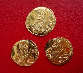 Solid 22k Gold Coin Last Byzantine Emperor Constantine Paleologos 17mm - 1.  7gm photo