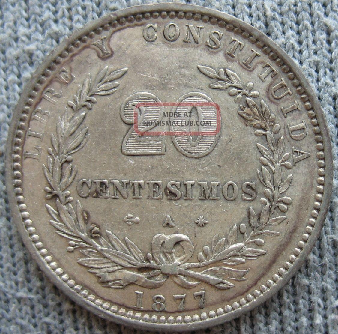 1877 - A Uruguay 20 Centesimos Uruguay photo
