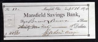 1874 Mansfield Savings Bank - Mansfield,  Ohio photo