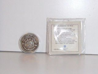 2004 Liberia $10 George W Bush Uncirculated Commemorative Coin With photo