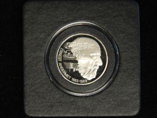 1983 Switzerland 5 Francs Proof - Conductor Ernest Ansermet photo