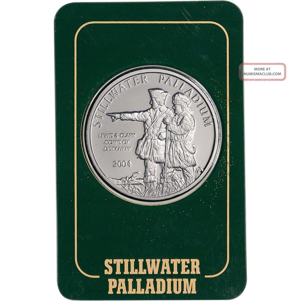 1 Oz.  Palladium Round - Johnson Matthey Stillwater.  999.  5 Fine In Vintage Assay Bullion photo