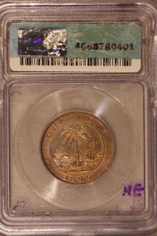 1896h Liberia Cent Icg Ms64 Rb Us photo