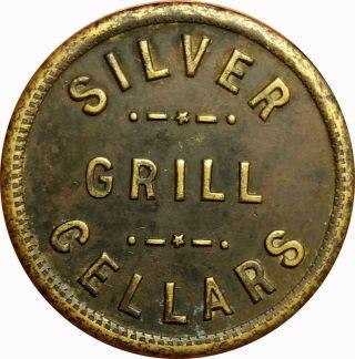 Silver Grill Cellars Spokane & Tacoma,  Washington Wa 1 Quart Schlitz Beer Token photo