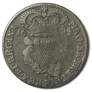 1694 Irish William & Mary Half Penny photo