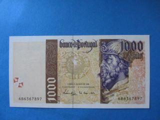Portugal 1000 Escudos Pedro Alvares Cabral 1998 Unc photo