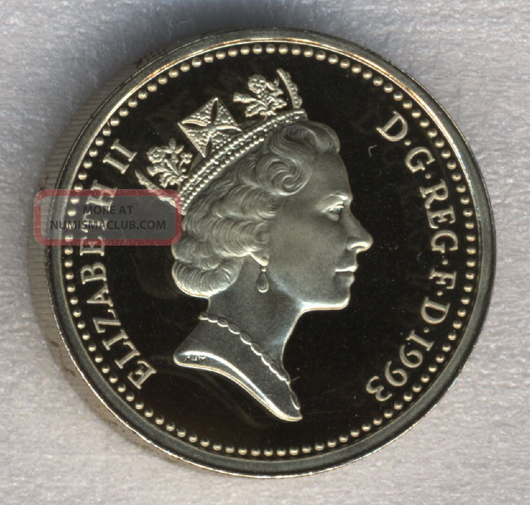 Great Britain 1 Pound 1993 Proof Shield Of Great Britain UK (Great Britain) photo