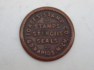 Vintage Forbes Stamp Co.  Grand Rapids Michigan Token,  Stamps,  Stencils,  Seals photo