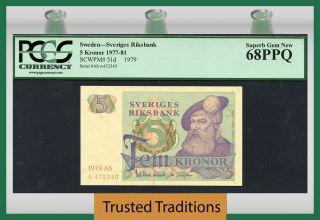Tt Pk 51d 1977 - 81 Sweden 5 Kronor