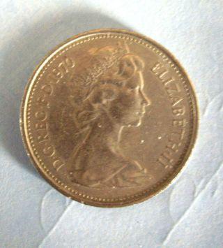 1970 D G Reg F D Elizabeth Ii Pence 5 Silver Coin photo