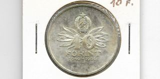 Hungary 1956 Bp 10 Forint Silver Coin photo