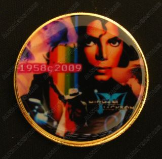 The King Of Pop Michael Jackson Colored 24k Gold Plated Coin Token photo