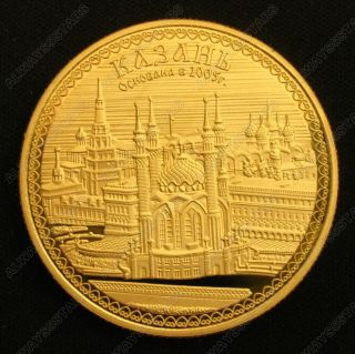 Russia Kremlin 24k Gold Plated Commemorate Coin Collectible Token photo