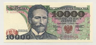 Poland 10000 Zlotych 1 - 2 - 1987 Pick 151.  A Unc Uncirculated Banknote photo