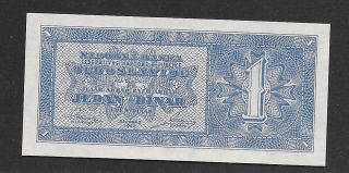 Yugoslavia 1 Dinar 1950,  Pick 67p,  Unc photo