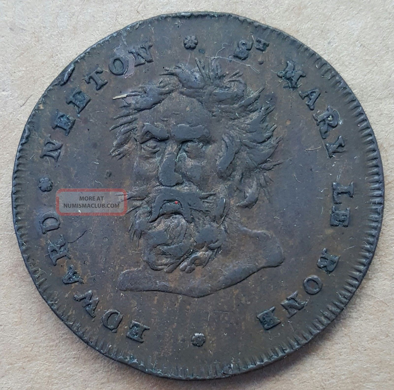 1795 Great Britain Middlesex Neeton Half Penny Conder Token D&h 390 UK (Great Britain) photo