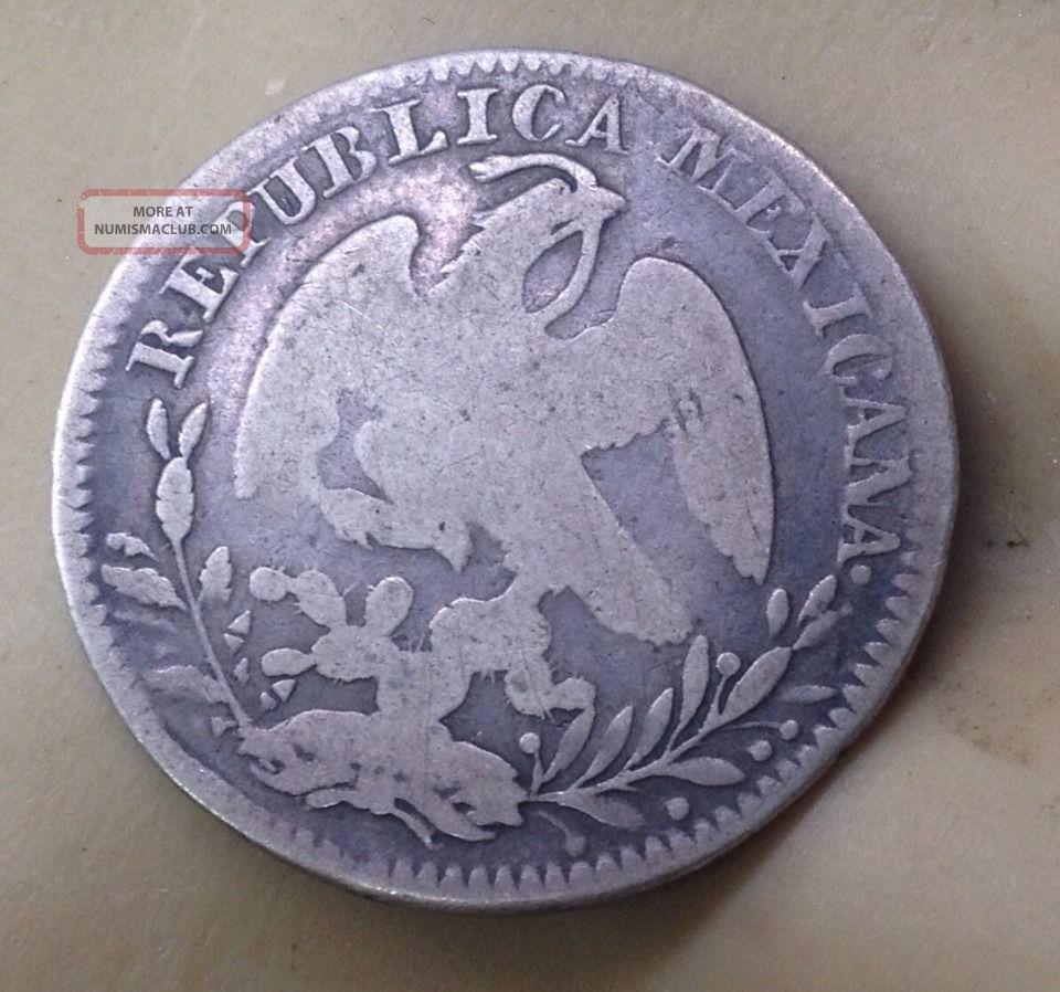 Circ D 1833 Republica Mexicana Silver 2 Reales Coin