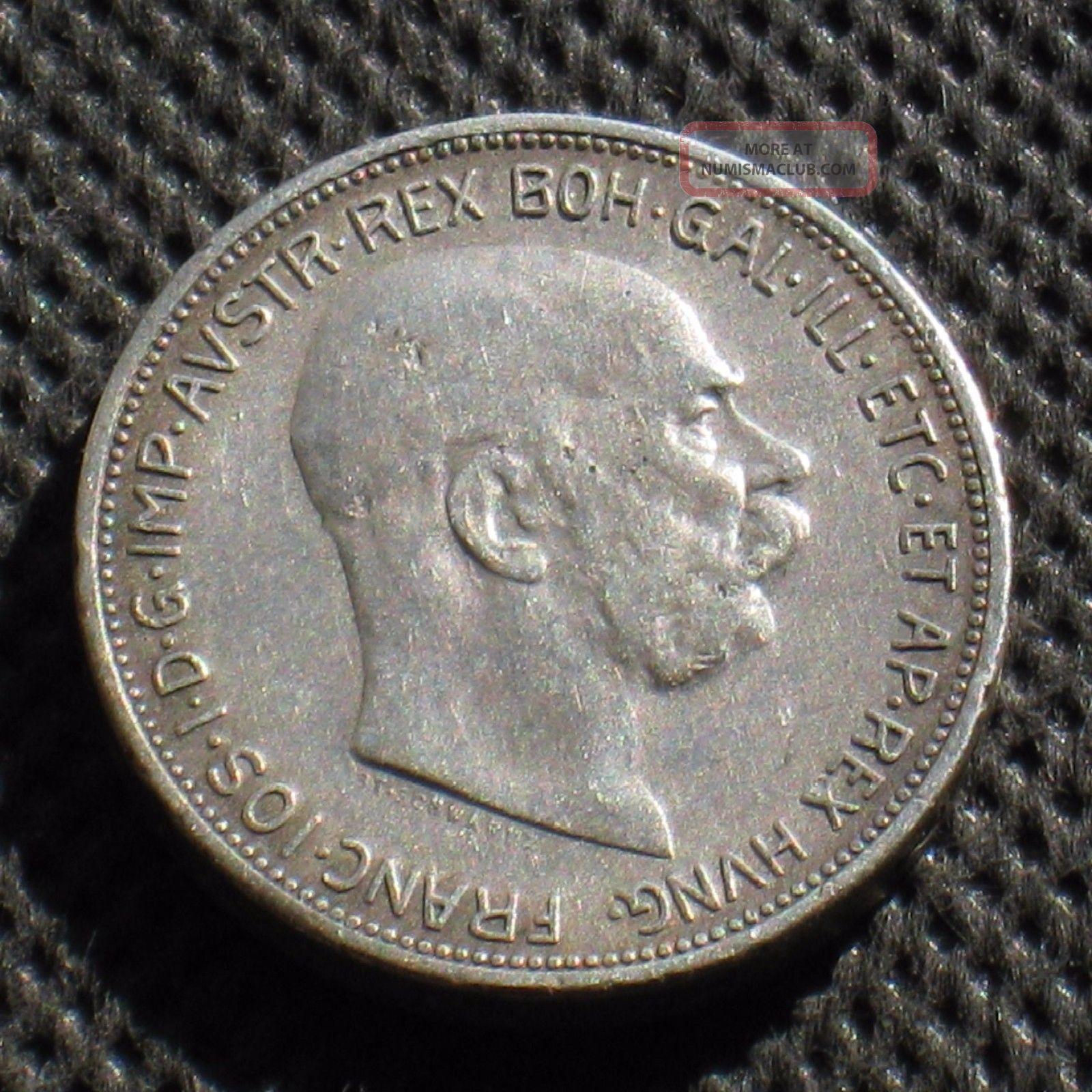 Old Silver Coin Of Austria 2 Corona 1912 Habsburg Monarchy Ag Europe photo