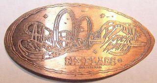 Lpe - Unl: Vintage Elongated Cent: Six Flags Over Texas / Shock Wave (coaster) photo