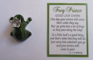 C Frog Prince Pocket Charm Ganz Good Luck Get Boyfriend Mini Figurine Miniature photo