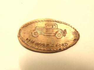 Elongated 1971 - D Cent Commemorating 1931 Ford Model A Car photo