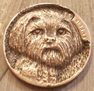 Hobo Nickel,  Miniature Metal Carving,  Corky photo